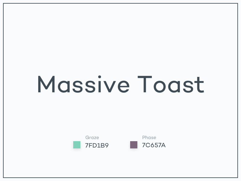 #Typehue WordSmash Week 1: Massive Toast toast massive wordsmash typehue