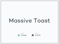 #Typehue WordSmash Week 1: Massive Toast