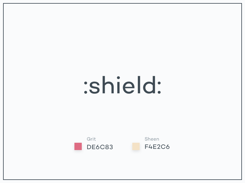 #Typehue Emoji Week 1: Shield shield emoji typehue