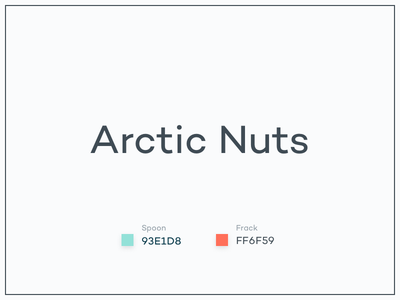 #Typehue Brandom Week 7: Arctic Nuts nuts arctic typehue