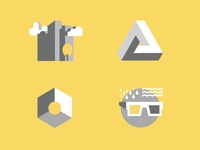 Icon set for ongoing project.