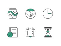 Icon set for new insurance company