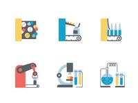 Icon set for farmacy company Likhim