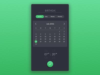 Reminder App Concept mobile app calendar reminder ui