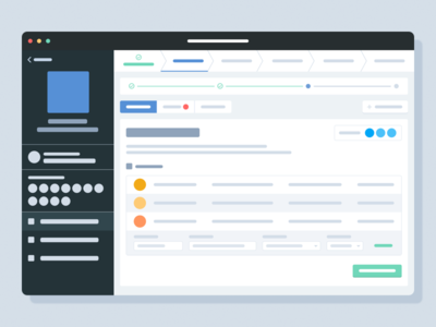 Task workspace ux information wireframe