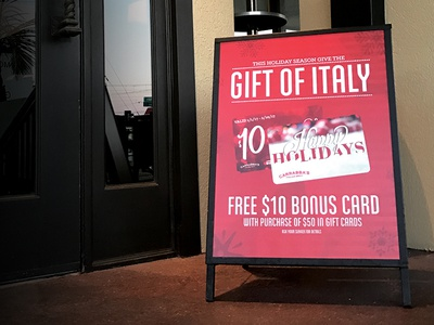 Carrabba's Italian Grill | Holiday Aframe