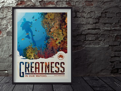 Great Barrier Reef Interior Poster | Outback Steakhouse