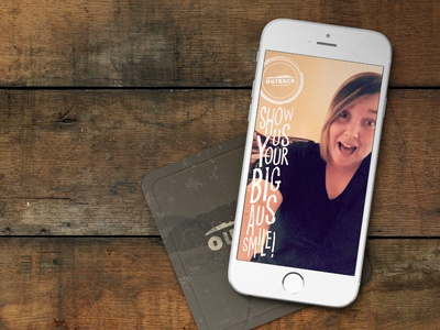 Outback Steakhouse | Big Aus Smile Snapchat Filter
