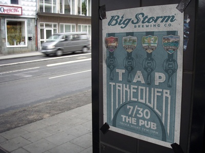 Big Storm Tap Takeover Poster
