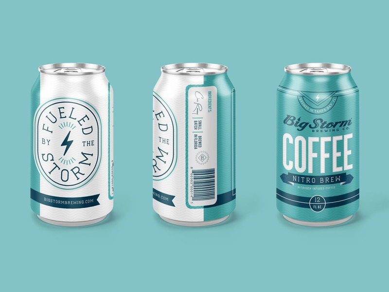 Big Storm Coffee Co. | Nitro Brew Concept nitro can packaging coffee