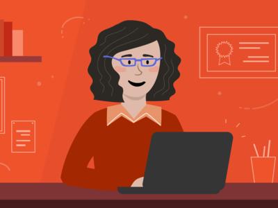 Online Research design illustration