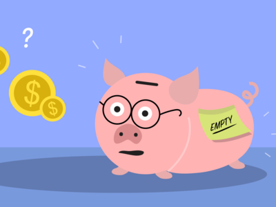 Illustration for Managing Money Tutorial art money money management animal art design elearning vector illustration flat