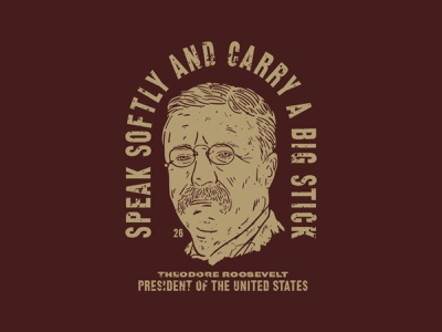 Teddy Roosevelt design vector branding illustration