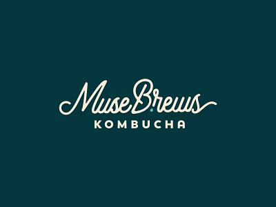 Muse Bews brews muse typography vector kombucha design branding logo