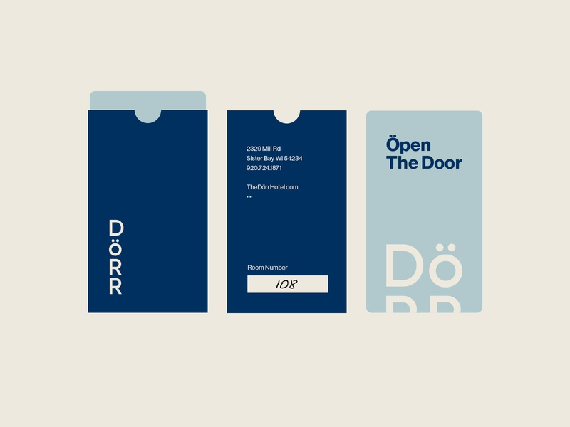 The Dörr Key Card scandanavian branding design county door