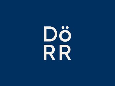 The Dörr Lockup door county branding icon logo