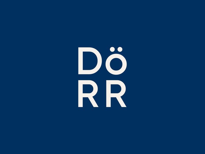 The Dörr Lockup door county branding icon logo
