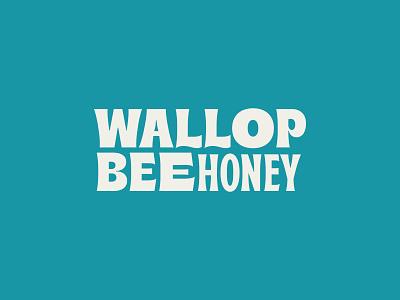 WallopBee Type Lockup typogaphy bee honeybee chili-infused honey logo