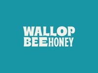 WallopBee Type Lockup typogaphy bee honeybee chili-infused honey logo