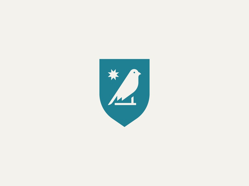 Blue Canary design icon branding logo