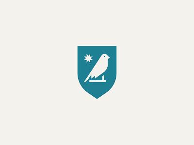 Blue Canary design icon branding logo