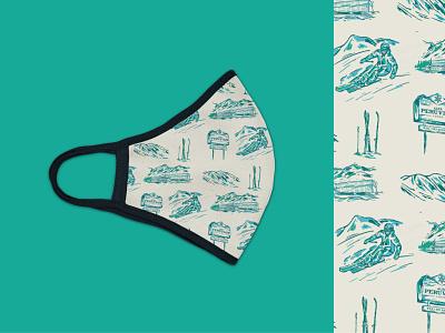 Alta Mask Illustrations winter snow mask utah alta ski sketches illustraion