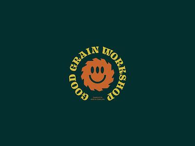 Good Grain Workshop grain wood workshop design icon branding logo