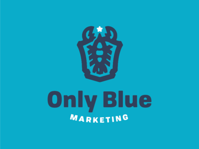 Only Blue Final Logomark star only logo icon blue lobster