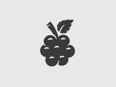 Elderberry branding icon kombucha fruit illustration elderberry