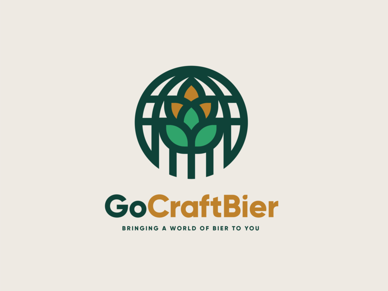 GoCraftBier branding logo wheat hops bier beer craft go