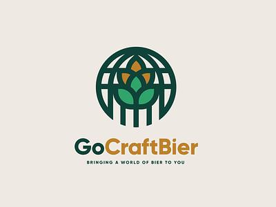 GoCraftBier branding logo wheat hops bier beer craft go