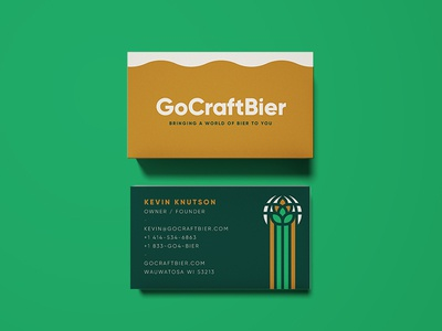 GoCraftBier Business Cards card business beer bier craft go