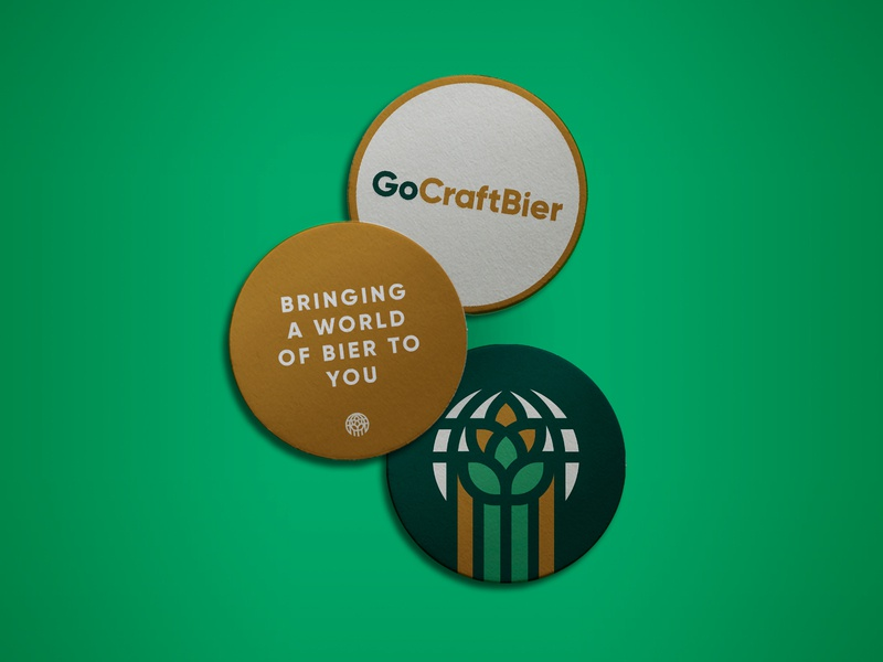 Go Craft Bier Coasters branding beer bier