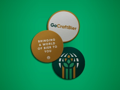 Go Craft Bier Coasters branding beer bier