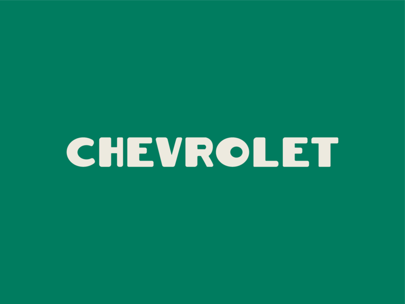Chevrolet vintage chevy typography design