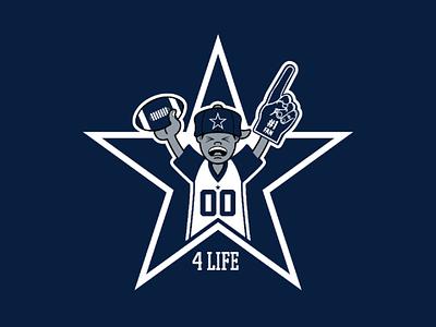 CowboysNation 4Life logo design sports logo star