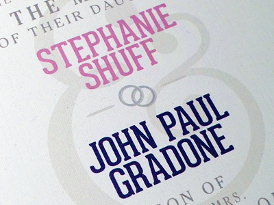 Johnny and Steph's Wedding wedding invitation print