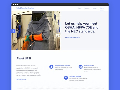 United Power Services, Inc calibre website web design design responsive