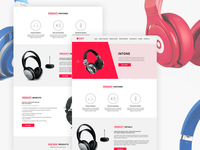 Product Landing Page PSD Template - Freebie