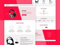 Landing Page PSD Template - Freebie