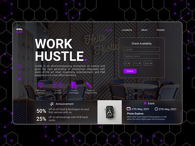 Collab website web icon typography ux vector ui design