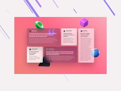 Testimonials web ux ui design