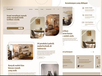 Web Furniture uidesign ui design ui aesthetic brown furniture webdesign website design web design web