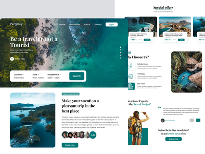Web Travel Pergikuy webdesign web travel traveling green travel website design web design website web
