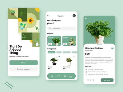 Plant Mobile app ui mobile plant mobile design mobile app plant design mobile ui mobile