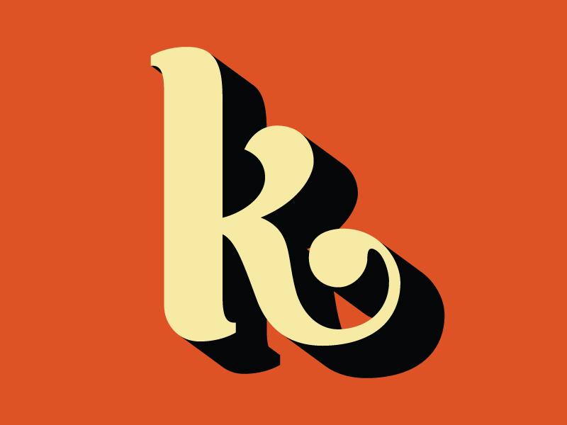 My Favorite Letter to Letter the letter k typography letter hand lettering lettering k