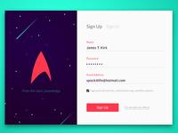 Day 001 - Starfleet Sign Up