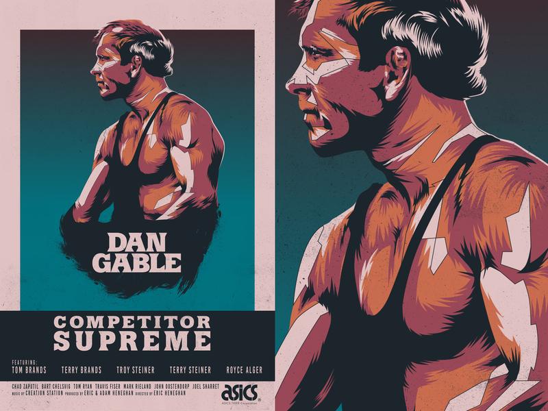 Competitor Supreme vector portrait portrait movie poster competitor supreme dan gable
