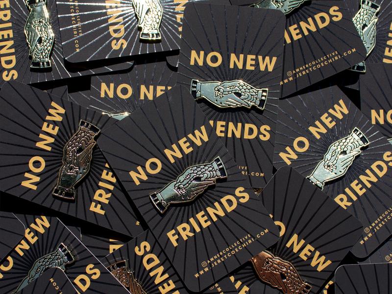 No New Friends Lapels