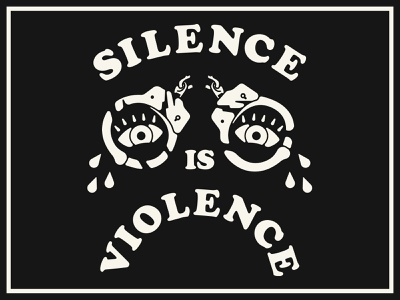 Silence Is Poster handcuffs eyes violence silence